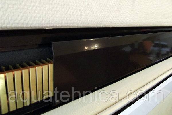 Тёплый электрический плинтус Термия 180 Вт 1 метр коричневый