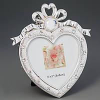 Фоторамка настольная Lefard Сердце 11х12 см 133N рамка для фото сердечко