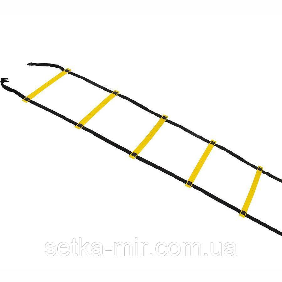 Координационная лестница SELECT Agility ladder - outdoors, желт/черн (14 ступеней, 6 м)