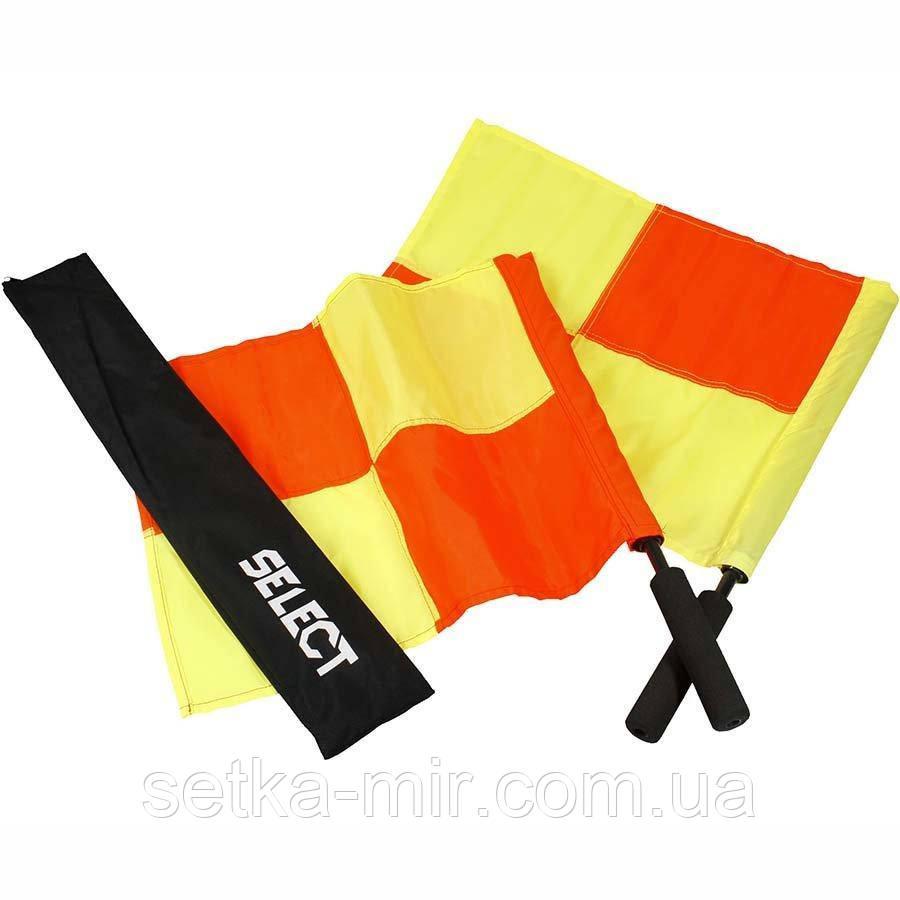 Прапорець лайнсмена професійний Select Lineman's Flag Pro, 2 прапора, жовто червоний