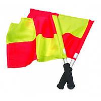 Флажок лайнсмена аматорский Select Lineman's Flag Classic, 2 флага, желто-красный