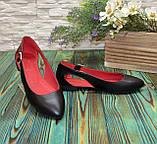 Женские кожаные туфли-балетки с острым носочком, фото 2