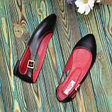 Женские кожаные туфли-балетки с острым носочком, фото 3