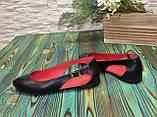 Женские кожаные туфли-балетки с острым носочком, фото 4