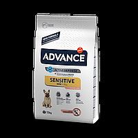 Advance Dog Mini Sensitive для собак малых пород с чувствительным пищеварением с лососем и рисом  3кг