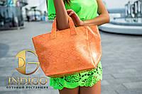 Сумка женская оранжевый питон матовая