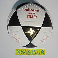 Мяч футзальный Mikasa SWL62V, бело-черный, р. 4, не ламинированный, низкий отскок , фото 1