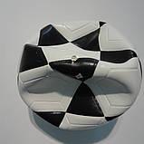 М'яч фут-зальний м'яч для міні футболу Mikasa SWL62V, біло-чорний, р. 4, ламінований, низький відскік, фото 2