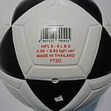 М'яч фут-зальний м'яч для міні футболу Mikasa SWL62V, біло-чорний, р. 4, ламінований, низький відскік, фото 3