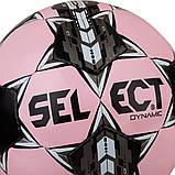 Мяч футбольный Select Dynamic, розово-черный, р.5, не ламинированный, фото 2
