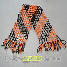 Футбольный шарф футбольного болельщика Шахтёра плетёный