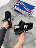 Жіночі кросівки New Balance 574 (black/gold), чорні жіночі кросівки New Balance 574, фото 5