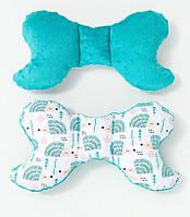 Подушка – позиционер детская BabySoon Мятные ежики 32 х 24 см цвет бирюзовый (329)