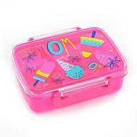 Ланчбокс с разделителем Sweet, (девочка), розовый, 420мл, YES