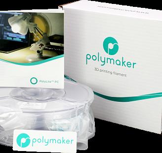 Пластик в котушці PC PolyLite 1,75 мм, Polymaker, 1кг