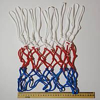 Сетка баскетбольная  «China. Model 1» (укороченная) красно-бело-синяя