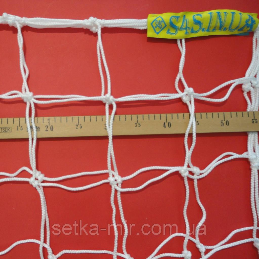 Сетка для футбола повышенной прочности «ЭКСКЛЮЗИВ 1,5» белая (комплект из 2 шт.)