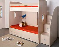 """Дитяча двох'ярусна ліжко горище дм143 """"Ківі"""""""