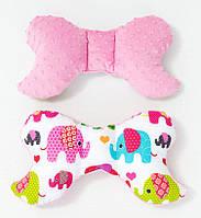 Подушка – позиционер детская BabySoon Розовые слоники 32 х 24 см цвет розовый (333)