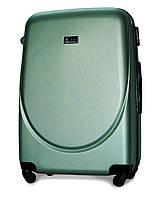 Чемодан Fly 310 большой 75х47х29 см 90л пластиковый на 4 колесах Изумрудный, фото 1