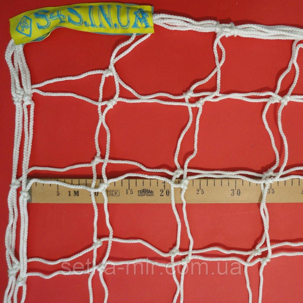 Сетка для футбола повышенной прочности «КАПРОН АНТИМОРОЗ ДИАГОНАЛЬ» белая (комплект 2 шт.)