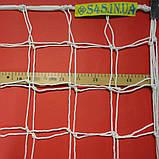 Сітка для футболу підвищеної міцності «КАПРОН АНТИМОРОЗ 2,1» біла (комплект з 2 шт.), фото 3