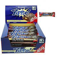 Протеиновый батончик WEIDER Yippie! 45 g Brownie-Vanilla 12 шт, фото 1