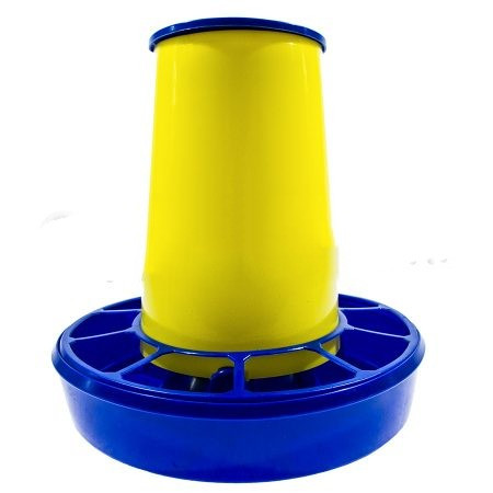 Бункерная кормушка на 3,1 л / 2,2 кг корма жел-син.