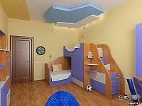 Детская двухъярусная кровать чердак Дюл32