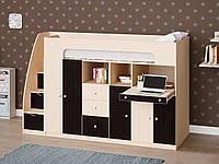 Дитяча двох'ярусна ліжко зі столом та шафою ДМ 850, фото 1