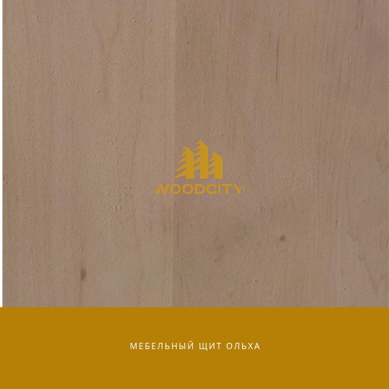 Мебельный щит цельноламельный Ольха 18 мм сорт А-В