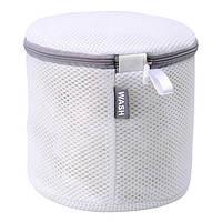 Мешок для стирки бюстгальтеров (бело-серый)