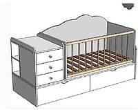 Кроватка-трансформер ДМ 1121