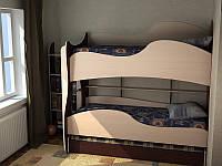 """Детская двухъярусная кровать чердак дм153 """"Колибри"""", фото 1"""