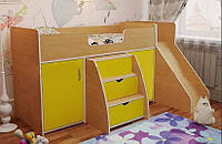 Детская кровать-чердак с горкой ДМО 55, фото 1