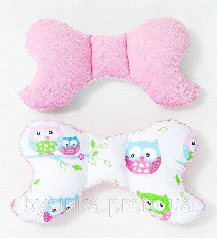Подушка – позиционер детская BabySoon Нежные совушки 32 х 24 см цвет розовый (336)