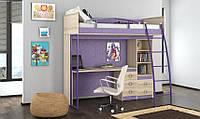 Дитяче ліжко горище дм117 (сходи, стіл, полиці, тумба, спальне місце), фото 1