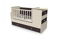 Детская кроватка для новорожденного с маятником дм 054