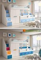 Кровать чердак для двоих детей, Дюл156