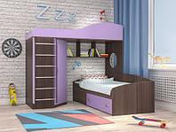 """Дитяча двох'ярусна ліжко горище дм134 """"Брісбен"""", фото 1"""