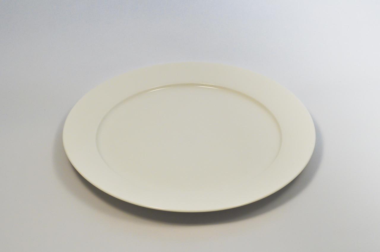 Тарілка кругла з бортом з кістяного порцеляни діаметр 30,5 див.