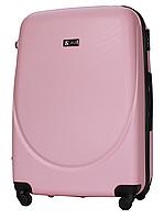Чемодан Fly 310 большой 75х47х29 см 90л пластиковый на 4 колесах Светло-розовый