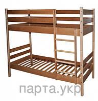"""Двухъярусная кровать  из бука  2 в 1 """"Сонета"""""""
