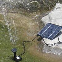 Фонтан с отдельной панелью солнечной батареи для сада, искусственного озера
