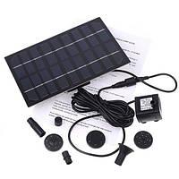 Фонтан на солнечных батареях с разными насадками для декоративных озер и увлажнения воздуха летом