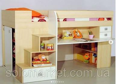 Детская кровать-чердак ИНСТ 1222