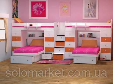 Дитяче ліжко для чотирьох дітей ДМ 722