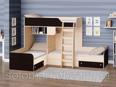 Дитяче ліжко для трьох ДМ 712