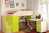 Детская кровать-чердак со столом ДМО 45, фото 1