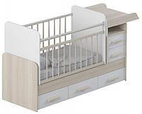 Детская кроватка для новорожденного с маятником ДМ-034